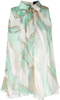 Elisabetta Franchi Silk Abstract Print Blouse
