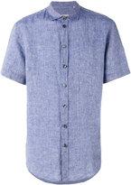 Armani Collezioni short-sleeve shirt - men - Linen/Flax - L