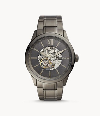 Fossil 48Mm Flynn Automatic Gunmetal Stainless Steel Watch jewelry