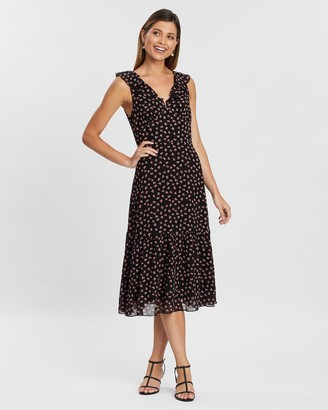Atmos & Here Ellie Ruffle Midi Dress