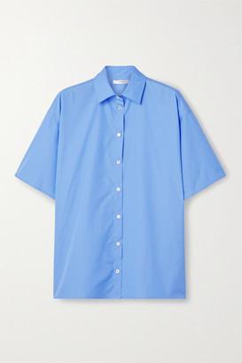 The Row Sissa Oversized Cotton-poplin Shirt - Light blue