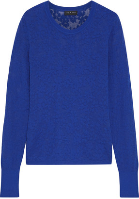 Rag & Bone Perry Burnout-effect Cotton-blend Sweater