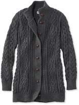 L.L. Bean 1912 Heritage Irish Fisherman Sweater, Long Cardigan