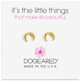 Dogeared Crescent Stud Earrings