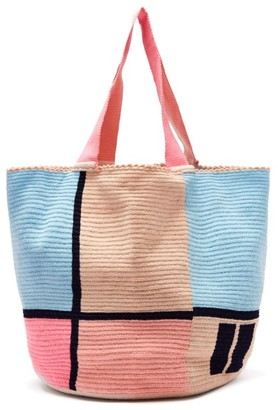 Sophie Anderson Jonas Woven Tote Bag - Womens - Blue Multi