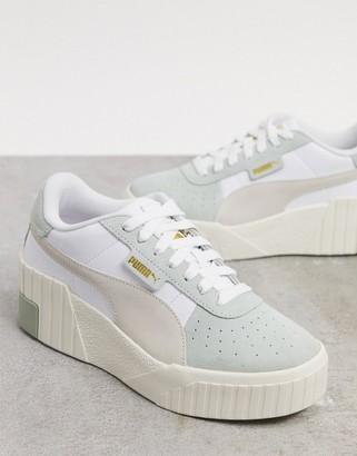 Puma Cali Wedge sneakers in green