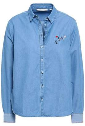 Chinti and Parker Embroidered Cotton-chambray Shirt