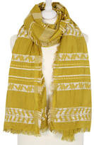 George Oversized Woven Detail Scarf