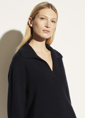 Vince Wool Cashmere Open Neck Polo
