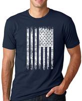Navy American Flag Crewneck Tee - Men's Regular