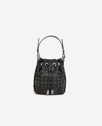 The Kooples Studded Nano Tina bag in smooth black leather