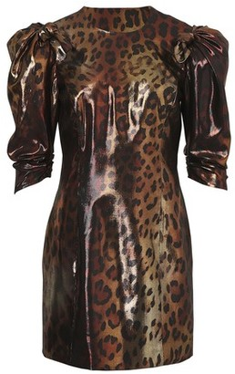 Versace Leopard short dress