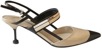 Prada Mary Jane Beige Leather Heels