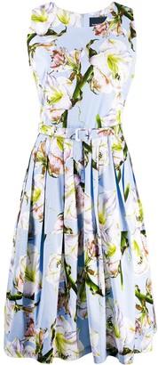 Samantha Sung Aster floral-print flared dress