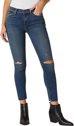 Hudson Nico Mid-Rise Super Skinny Distressed Jeans