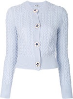 Miu Miu cropped cable-knit cardigan