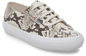 Superga Women's 2750 Synth Snake Lace-Up Sneakers Women's Shoes