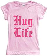 Urban Smalls Pink 'Hug Life' Fitted Tee - Toddler & Girls