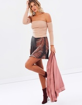 Foliage Ruffle Mini Skirt