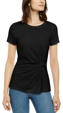 INC International Concepts Inc Ponte-Knit Twist Top, Created for Macy's