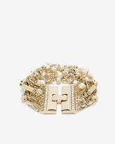 White House Black Market River Stone Crystal Multi-Row Bracelet