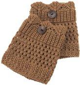 Spring Fever Women's Cable Crochet Knit Boot Socks Cuffs Topper Leg Warmers(Black, )