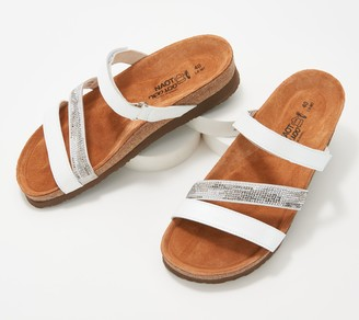 Naot Footwear Leather Multi-Strap Slide Sandals- Columbus