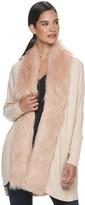 JLO by Jennifer Lopez Women's Faux-Fur Trim Completer Cardigan