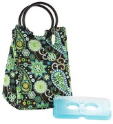 Fit & Fresh Retro Insulated Lunch Bag with Reusable Ice Pack - Green Paisley