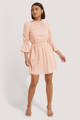 NA-KD High Neck Flare Mini Dress