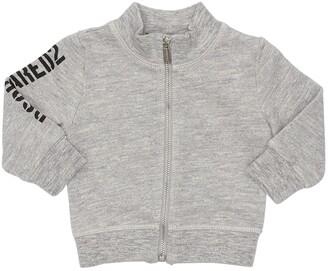 DSQUARED2 Zip-up Logo Printed Cotton Sweatshirt