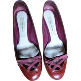 Marc Jacobs Burgundy Leather Ballet flats