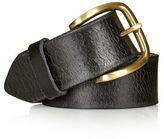 Crackle leather jeans belt