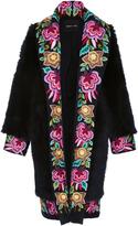 Naeem Khan Tuscan Lamb Floral Embroidered Coat