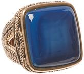 Barse Blue Agate & Bronze Square Ring