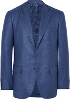 Loro Piana Blue Madrid Unstructured Silk and Cashmere-Blend Hopsack Blazer