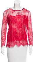 The Kooples Lace Long Sleeve Top