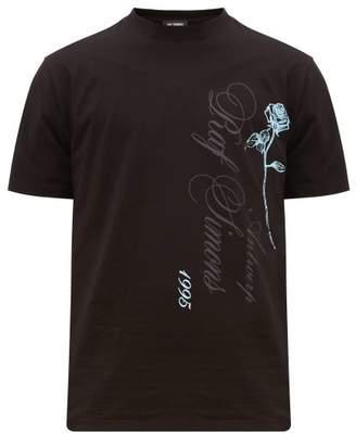 Raf Simons Antwerp Print Cotton T Shirt - Mens - Black