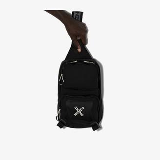Kenzo black Active one-shoulder logo backpack