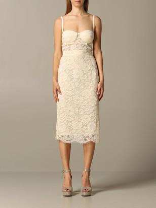 Elisabetta Franchi Celyn B. Elisabetta Franchi Dress Elisabetta Franchi Sheath Dress In Lace