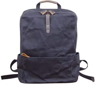 Touri 16'' Waxed Canvas Laptop Backpack In Charcoal Black