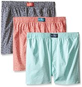 Original Penguin Men's 3-Pack All Over Toss Woven Boxer