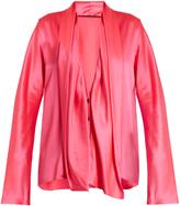 Haider Ackermann Dali drape-front silk-satin blouse