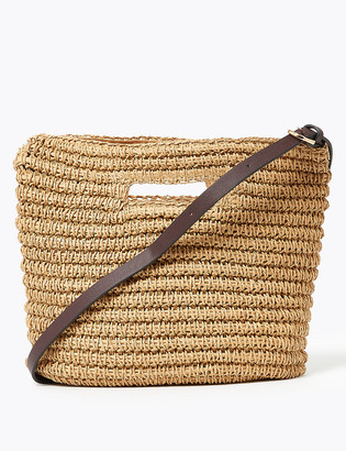 Marks and Spencer Straw Cross Body Bag