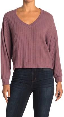 Lush Boxy Wide Ribbed Knit Sweater