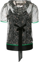 Coach sheer floral blouse - women - Silk/Polyamide/Acetate - 2