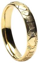 BORU Ladies Claddagh Wedding Band Domed 14K Irish Made 5.5