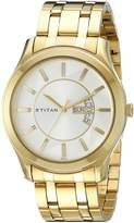 Titan Men's 1627YM01 Regalia Analog Display Quartz Gold Watch