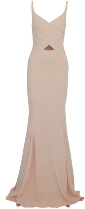 Stella McCartney Fluted Cutout Crepe Gown