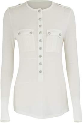 Balmain Buttoned t-shirt
